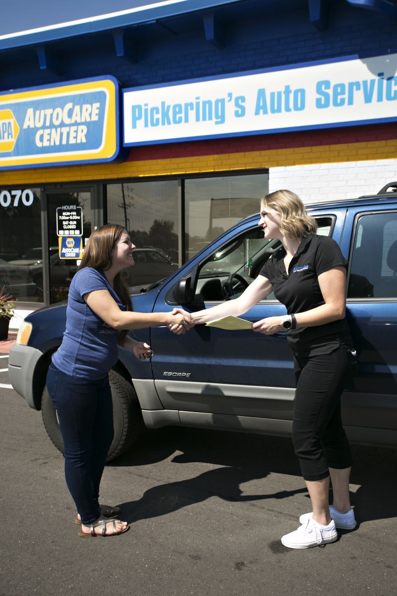Customer Handshake Interaction | Pickering's Auto Service